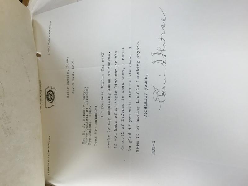 222942-997118 - Plimmer Jared - May 4, 2016 208 PM - PlimmerJ_Edwin S. Shortess to Secretary Iowa Council National Defense_Metcalf.JPG