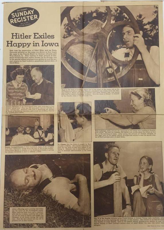 Hitler Exiles Happy In Iowa