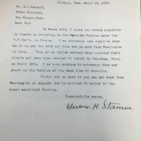 Stamm to Metcalf, April 18, 1918