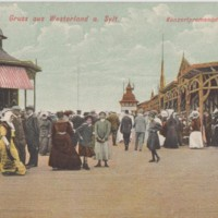 Postcard from Max Rehder with Image of Sylt Promenade, 1910