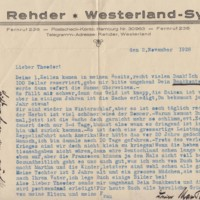 Letters from Max Rehder to Theodor Rehder, 1928