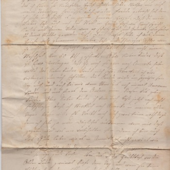 Letter from Widow Elizabeth Hoehne to her son and daughter-in-law