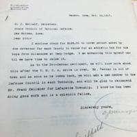 D.J. Murphy to H. J. Metcalf, November 10, 1917