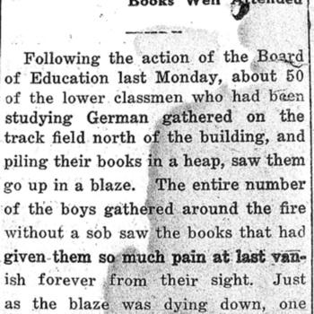 Burn German Books