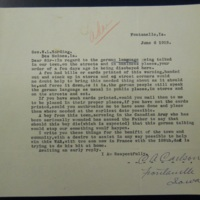 Carlson letter informing on German-Language Use
