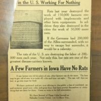 Advertisement for Rat-Proof Farm Storage to Protect Production during the War