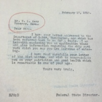 Herbert Metcalf to W. L. Kerr, 1918