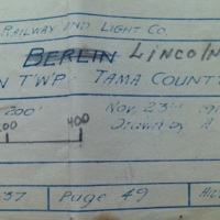 Map showing Lincoln, Iowa name change to Berlin during World War I