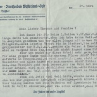 Letter from Max Rehder to Theodor Rehder, 1935