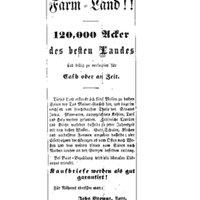 Ad for Iowa Farm Land