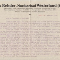 Telegram to Theodor Rehder