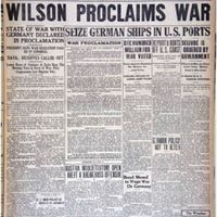 Wilson Proclaims War