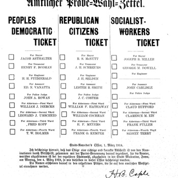 Muscatine Herold: 1918 Sample Election Ballot