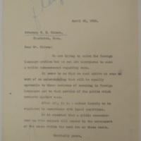 Harding on Language Issue