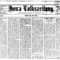 Iowa Volkszeitung (The People's Newspaper of Iowa)