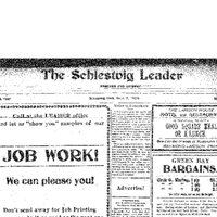 Masthead for Schleswig Leader