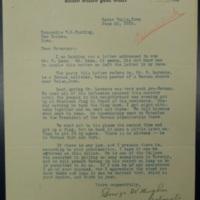 Passing on Buden's Letter