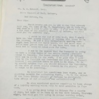 Letter to H. J. Metcalf