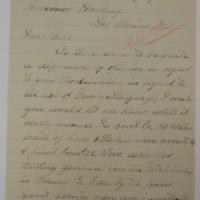 Letter to Harding