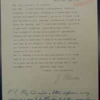 Response to Harding Secretary