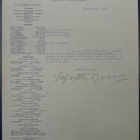 Passing on Wilson's Letter