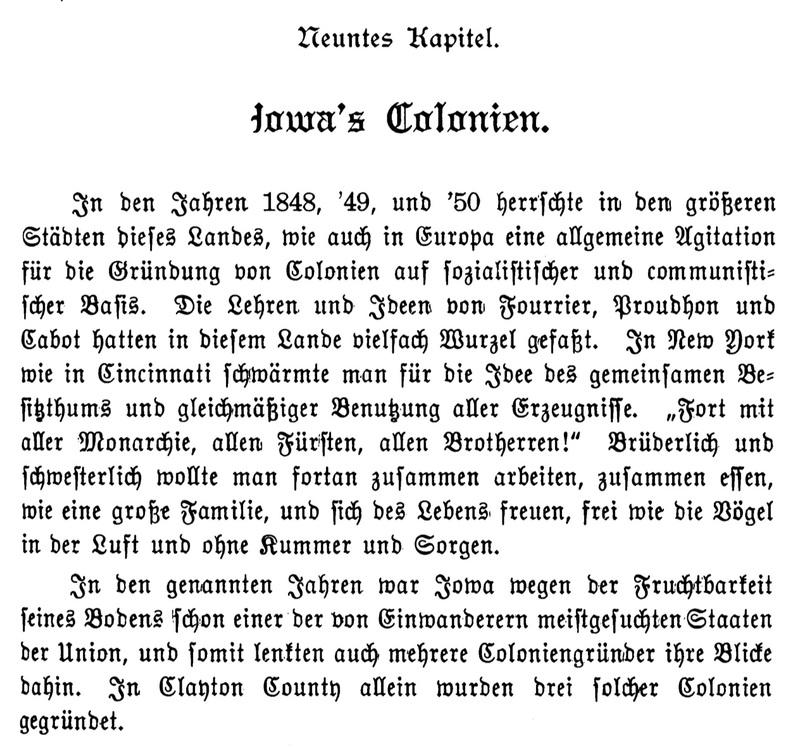 Joseph Eiboeck, Die Deutschen von Iowa: Chapter 9