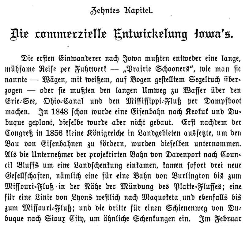 Joseph Eiboeck, Die Deutschen von Iowa: Chapter 10