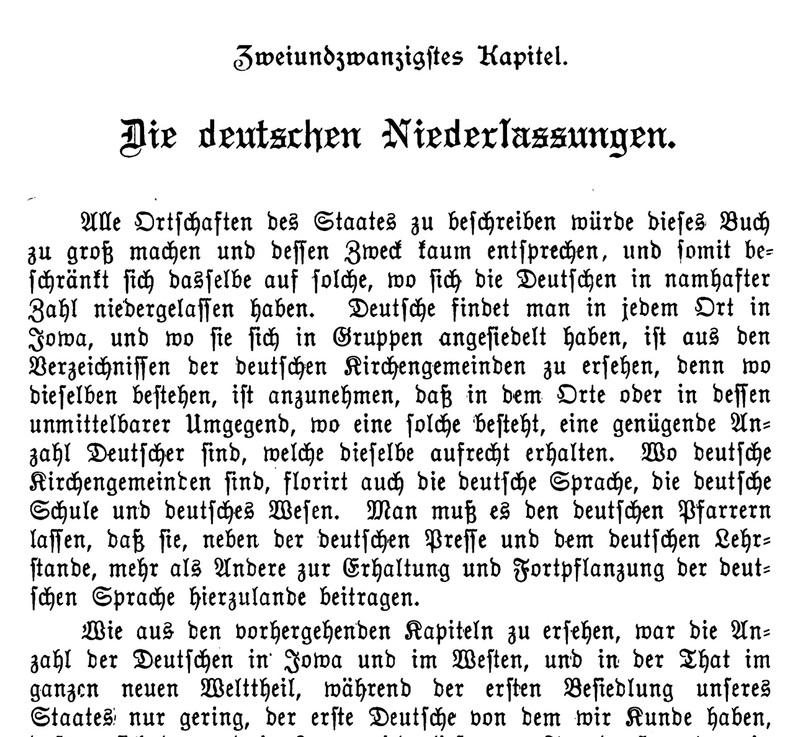 Joseph Eiboeck, Die Deutschen von Iowa: Chapter 22