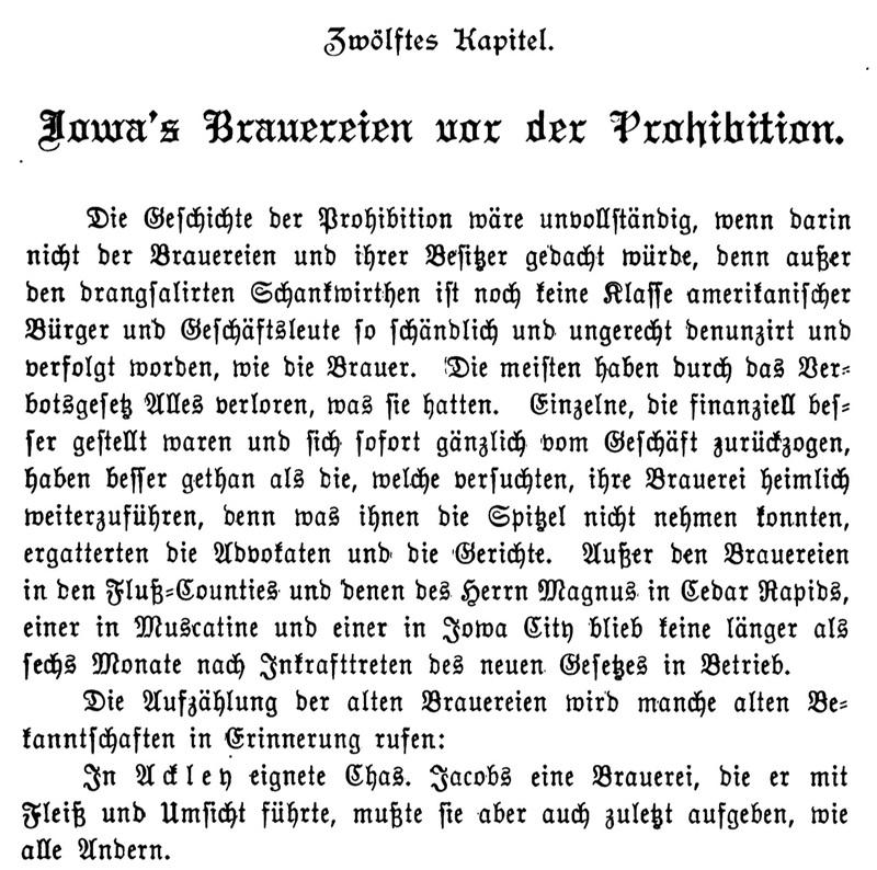 Joseph Eiboeck, Die Deutschen von Iowa: Chapter 12