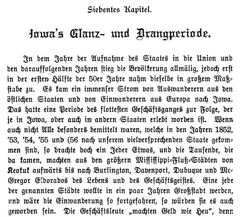 Joseph Eiboeck, Die Deutschen von Iowa: Chapter 7