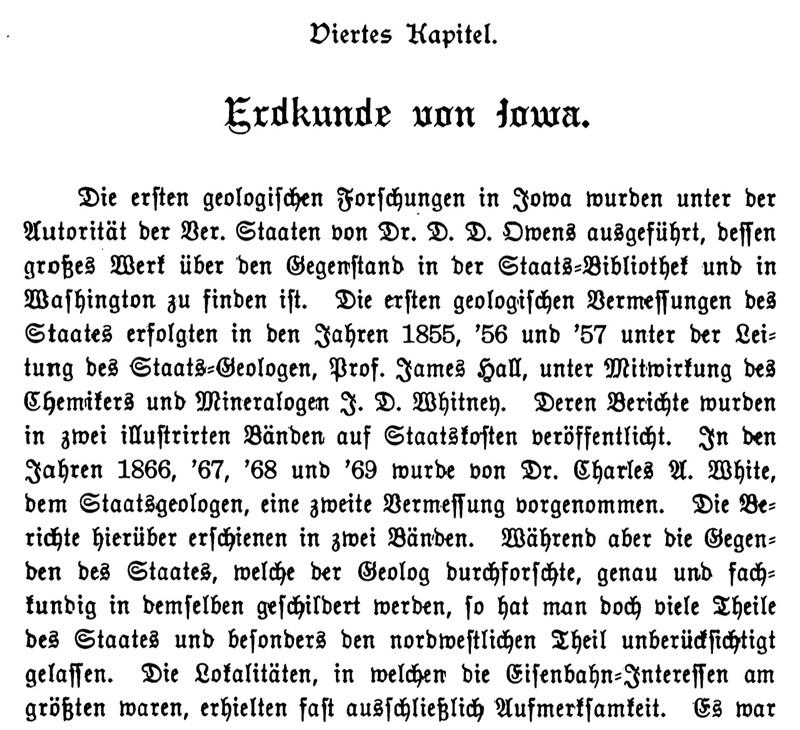 Joseph Eiboeck, Die Deutschen von Iowa: Chapter 4