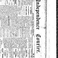 Independence Courier Masthead
