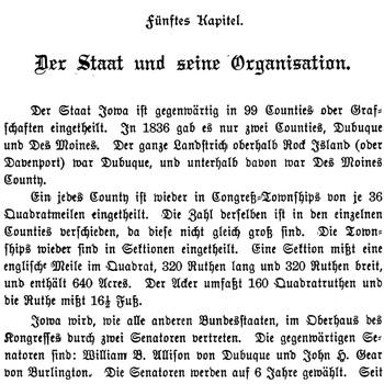 Joseph Eiboeck, Die Deutschen von Iowa: Chapter 5
