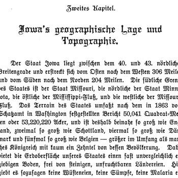Joseph Eiboeck, Die Deutschen von Iowa: Chapter 2