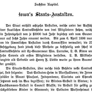 Joseph Eiboeck, Die Deutschen von Iowa: Chapter 6