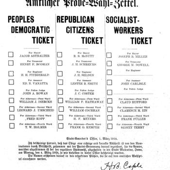 Muscatine Herold: 1918Sample Election Ballot