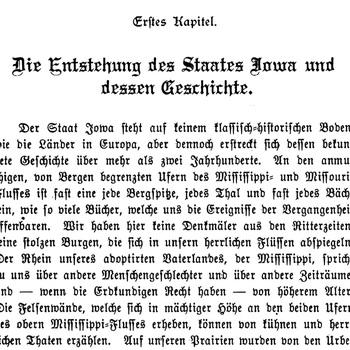 Joseph Eiboeck, Die Deutschen von Iowa: Chapter 1
