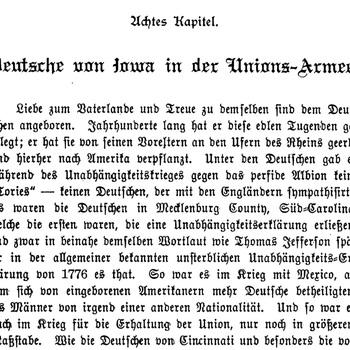 Joseph Eiboeck, Die Deutschen von Iowa: Chapter 8